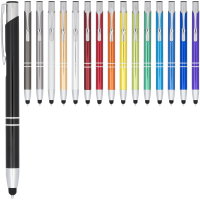 Moneta anodized aluminium click stylus ballpoint pen