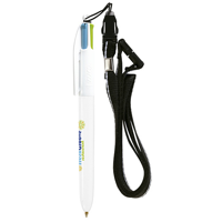BIC 4 Colours Fashion Ballpen  Lanyard