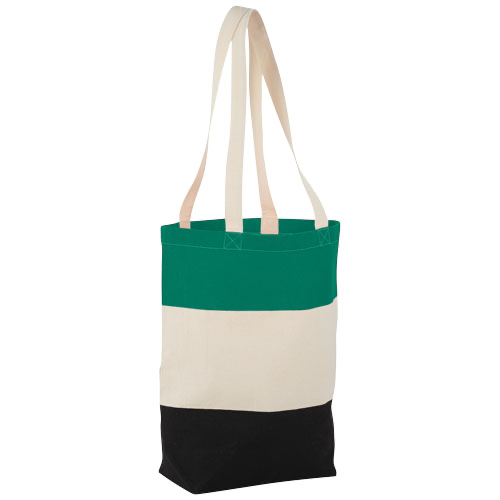 Colour-block 227 g/m² cotton tote bag