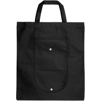 Maple buttoned foldable non-woven tote bag