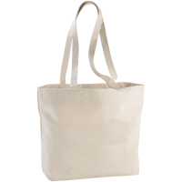 Ningbo 340 g/m² zippered cotton tote bag