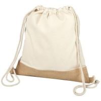 Delhi cotton jute drawstring backpack