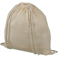 Maine mesh cotton drawstring backpack