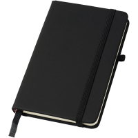 Noir A6 notebook with lined pages