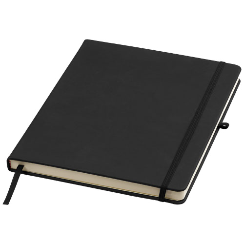 Noir large notebook with lined pages
