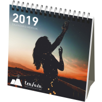 Classic monthly desktop calendar soft cover