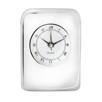 Silver Plated Cushion Clock