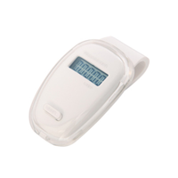 Oval Pedometer White/Clear