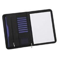 Clio Zip Conference Folder Black/Black