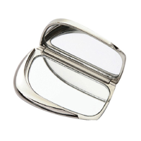 Polished Compact Mirror - Silver/Silver