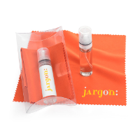 2pc Orange Screen & Glasses Cleaning Pillow Pack