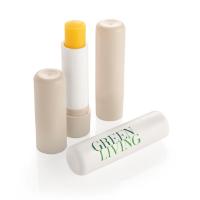 White Recycled Plastic Lip Balm Stick