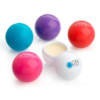 White Ball Shaped Lip Balm