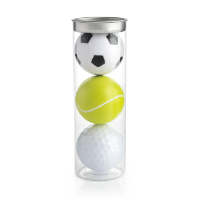 Set of Sports Ball Lip Balms in a Tube
