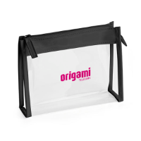Clear PVC Bag with Black trim and Zipper