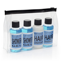 Travel Toiletry Gift Set in Blue  in a Bag