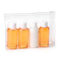 Travel Toiletry Gift Set in Orange  in a Bag
