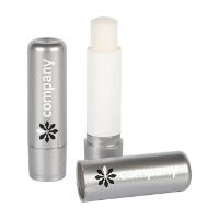 Metallic Silver Colour Polished Lip Balm Stick, 4.6g