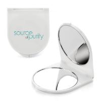 White Plastic Compact Mirror