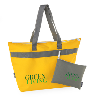 Printed RPET Shopper and Toiletry Bag Set
