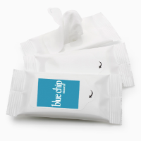 5 Wet Wipes in a Soft Pack - Printed/Label Tab Only
