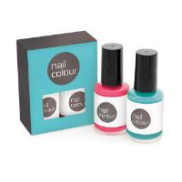 2pc Nail Polish Set in a Printed Box