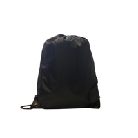 Kids Black Polyester Drawstring Sports Bag