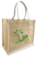 Large Eco Friendly Medium Natural Jute Bag with extra large gusset