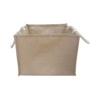 Large Natural Jute Box Bag