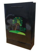 Walton A4 Black Gloss Laminated Paper Carrier Bag