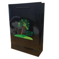Walton A4 Gloss Laminated Black Paper Carrier Bag