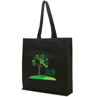 Black Non-Woven Poypropylene Bag with Gusset