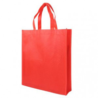 Red Non-Woven Poypropylene Bag with Gusset