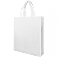 White Non-Woven Poypropylene Bag with Gusset