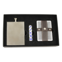 Slimline Hip Flask Poker Set