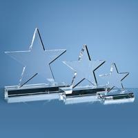 16cm Optical Crystal 5 Pointed Star on Base Award