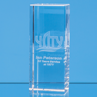15cm x 6cm x 6cm Optical Crystal Rectangle, H or V