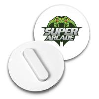 Recycled Clip Badge 37mm Circular