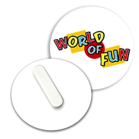 Recycled Clip Badge 45mm Circular