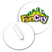 Recycled Clip Badge 55mm Circular