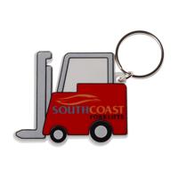 Recycled Forklift Shape Keyring