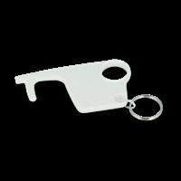 Recycled Hygiene Hook Keyring-Unprinted