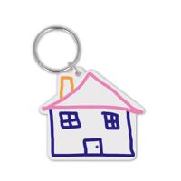 Recycled House Shape Keyring