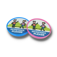 SOCIAL DISTANCING CHILDS SAFETY POP BADGE