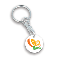 Recycled NEW £ Trolley Coin Keyring