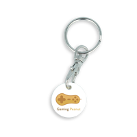 Recycled EURO Trolley Coin Keyring