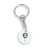 Recycled OLD £ Trolley Coin Keyring