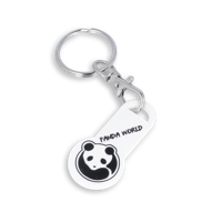 Recycled OLD £ Trolley Stick Keyring