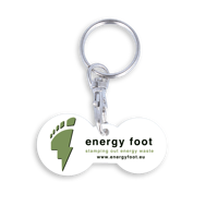 Recycled Multi Euro Trolley Stick Keyring