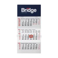 Start Mini 3-Month Calendar White